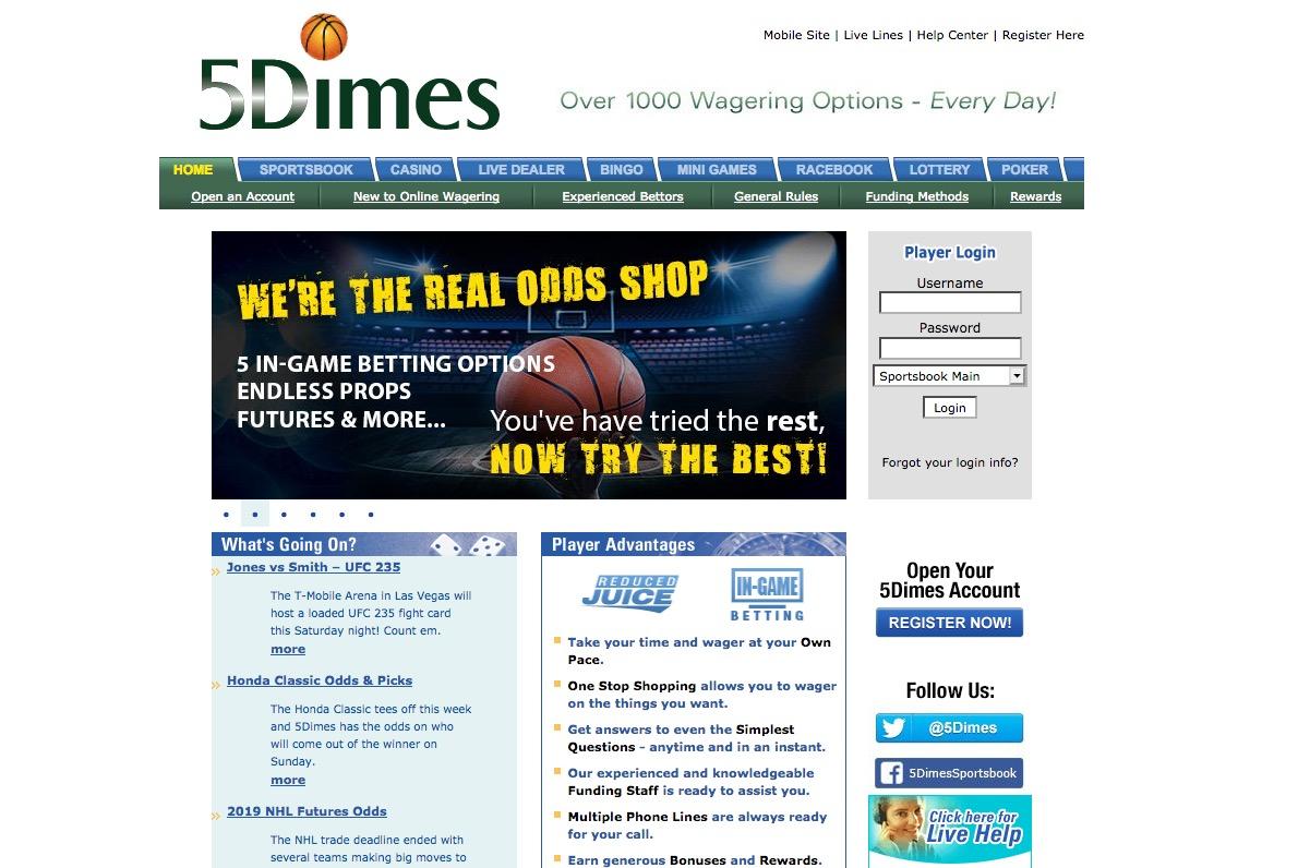 5 Dimes Bonuses and Rewards