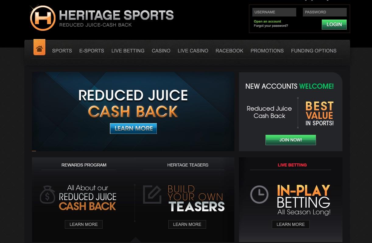 Heritage sportsbook betting genereren bitcoins buy