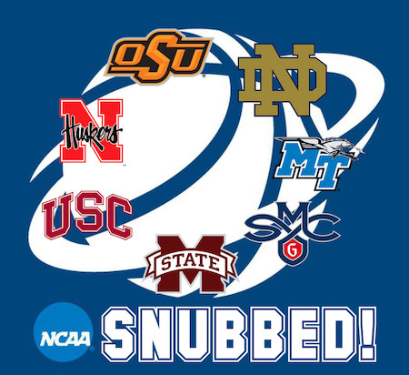 NCAA basketball teams snubbed