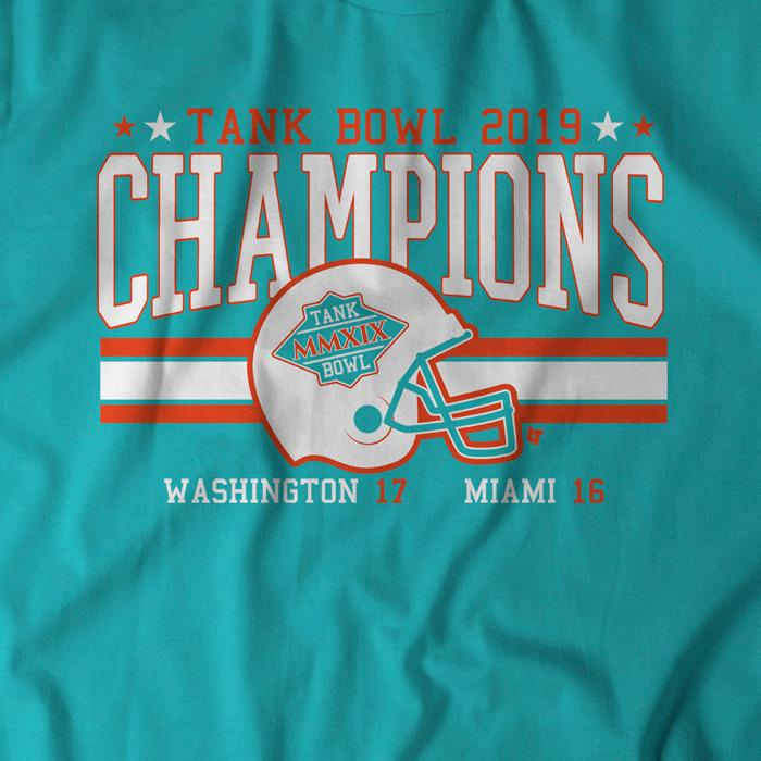Dolphins Redskins Tank Bowl