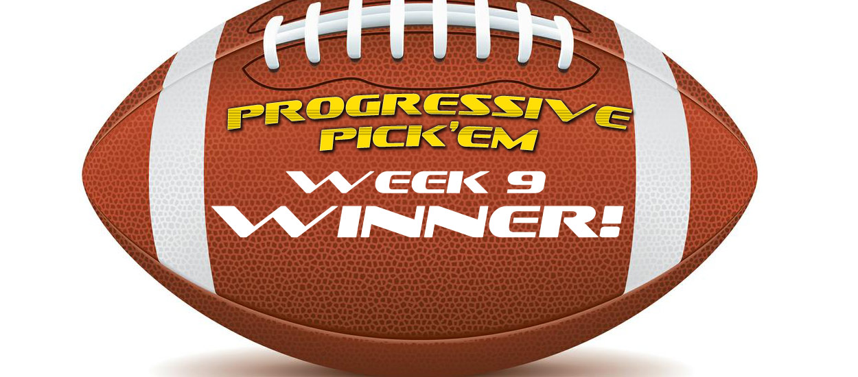 OSGA Progressive Pick 'Em hit again in Week 9