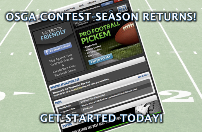 Enter the 2020 OSGA Pro Football Progressive Pick 'em