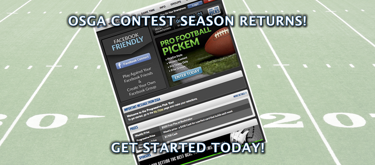 Enter the 2020 OSGA Pro Football Progressive Pick 'em